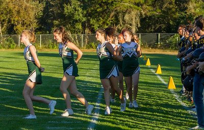 Vashon Island High School Fall Cheer at Football v Forks 09/01/2017