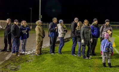 Vashon Island High School Fall Cheer and Football Seniors Night 2017