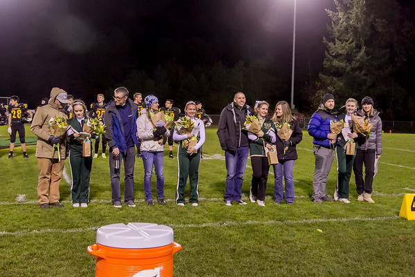 Vashon Island High School Fall Cheer and Football Seniors Night 2017 11/03/2017