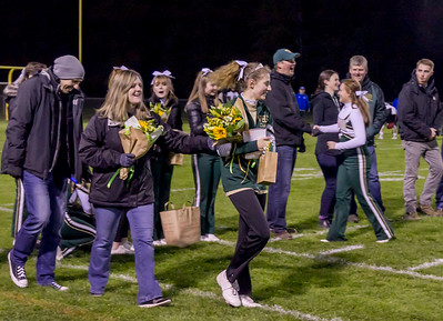 Set one: Vashon Island High School Fall Cheer and Football Seniors Night 2017