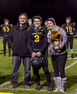 Vashon Island High School Fall Cheer and Football Seniors Night 2017