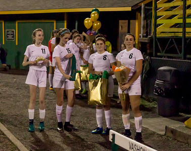 Vashon Island High School Girls Soccer Seniors Night 2017