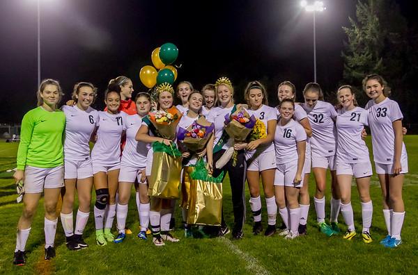 Vashon Island High School Girls Soccer Seniors Night 2017 10/23/2017