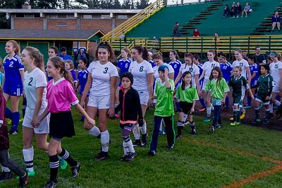 Vashon Island High School Girls Soccer Seniors Night 2017