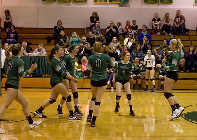 Varsity Volleyball v Cascade Christian Seniors Night