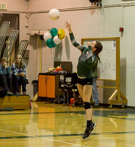Varsity Volleyball v Cascade Christian Seniors Night