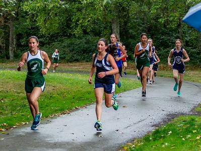 Middle School Girls Race, Cross Country Nisqually Meet 2 on Vashon Island 2018 10/02/2018