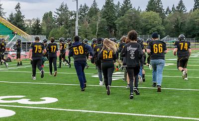 Vashon Island High School Football v Cedar Park at Opening Night 2018
