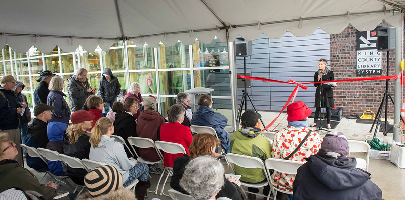 Vashon King Co  Library ReOpening Ceremony