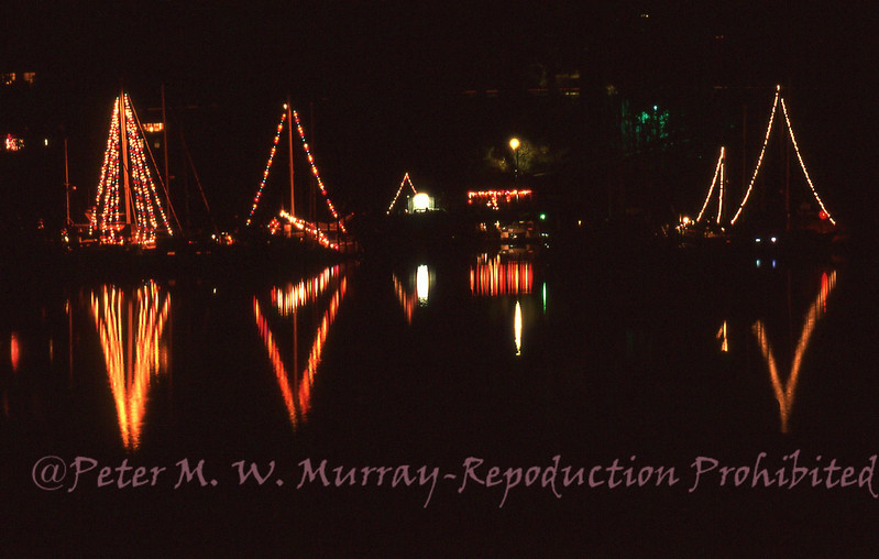 Quartermaster Marina Winter Solstice lights.