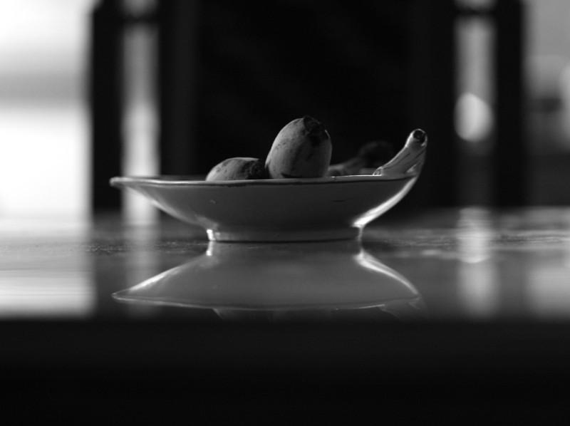 Fruktskål på matsalsbord
