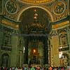 Inside St. Peter's Bascilica.