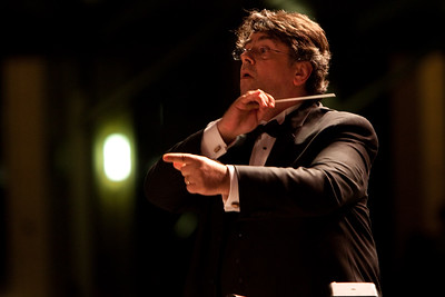 Constantine Kitsopoulos conducts the Russian National Orchestra at the fourth annual Festival of the Arts BOCA in Boca Raton, Florida.