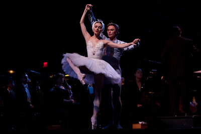 The Russian National Orchestra perform with the Stars of the American Ballet Theatre – Irina Dvorovenko & Maxim Beloserkovsky, conducted by Constantine Kitsopoulos  at the fourth annual Festival of the Arts BOCA in Boca Raton, Florida.