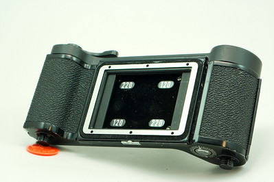 120/220 Roll Film Holder Pic #1 $50 includes M and P adapters.
