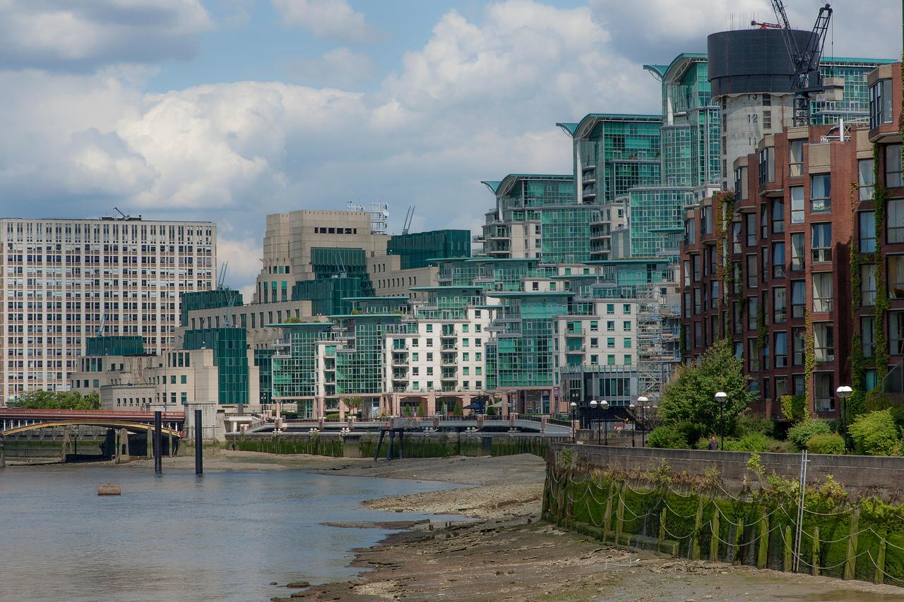 South of the River Thames near Vauxhall Bridge