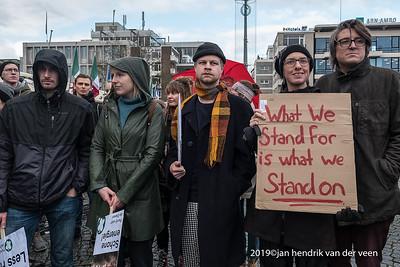 nederland 2019, groningen, demonstratie landelijke klimaatactie