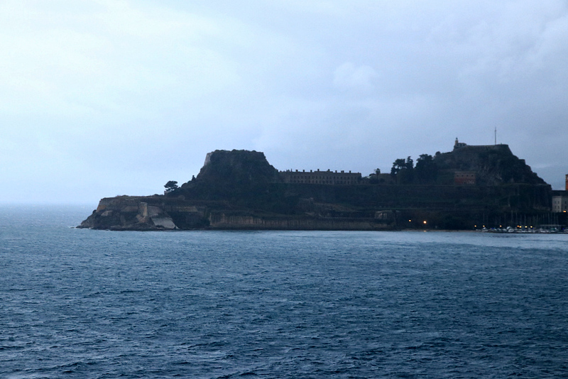 unable to dock in Corfu-- strong winds