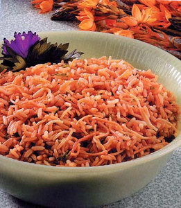 Bozenisima's Rice Noodle Pilaf<br /> <br /> 1 Cup Uncooked Brown Rice<br /> ½ Cup Uncooked Vermicelli Noodles (broken)<br /> ¼ Cup Margarine (Smart Balance or Earth Balance or Olive Oil)<br /> ¾ Cup Onion, chopped<br /> ½ Cup Slivered or Sliced Almonds<br /> 2 ½ - 3 Cups Water<br /> 2 tsp Dried Parsley<br /> ½ -1 tsp Salt<br /> ½ tsp McKay's Chicken Style Seasoning<br /> <br /> Combine all ingredients; place in casserole dish.<br /> <br /> Bake @ 375 for 60 minutes.<br /> <br /> Garnish with fresh parsley and/or red peppers.<br /> <br /> Option:  May mix 2 cups of already cooked white rice with the above recipe after it is fully cooked.