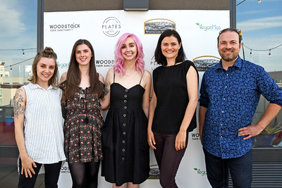 "VeganMos hosts the fourth and final ""Woodstock in Williamsburg"" - Woodstock Sanctuary Fundraiser on June 16, 2018 in Brooklyn, New York."