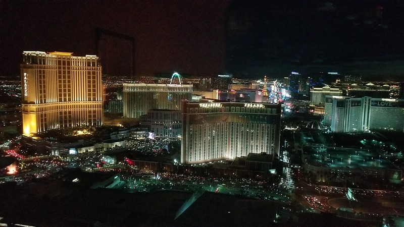 Shot from the 54th floor of the Trump Hotel in Las Vegas.
