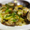 Chinese Mushrooms Stirfried with Leek and Onions