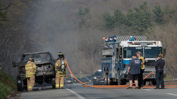Vehicle Fire on Route 30