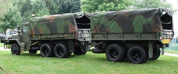 M35A2C 2.5 Ton Troop Transport w/ Trailer
