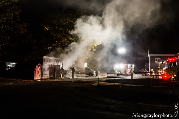 Vehicle/Structure fire, Coldbrook, Oct. 24, 2017