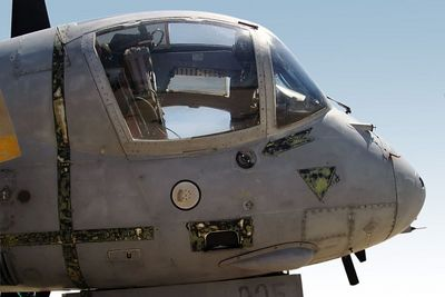 Grey cockpit  in sky 0361