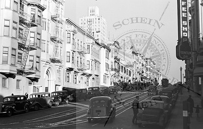 Califormia St , view East from Hyde St.