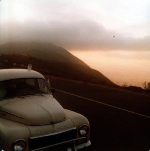 1961 Volvo PV-544 along the road near La Bufadora, Mexico, 1977