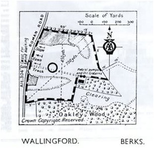 <font size=3><u> - Vickers Viking - </u></font> (BS1337)  Sketch map of Oakley Wood Airstrip.