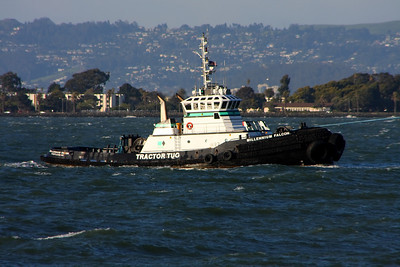 The Millennium Falcon. What a piece of junk! But she's the fastest tug in the SF Bay! ;)