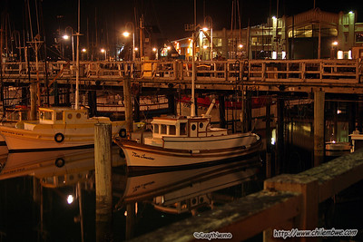 San Francisco harbour at night