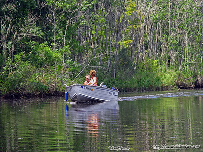 Kayaking at Potters creek. Jacksonville, Florida.
