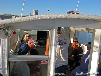 Onboard Sirena del Mar with 'Sun and Fun scuba' for our trip to Bird Island. Puerto Penasco, Mexico.