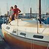 """The new boat """"Dream Weaver"""" in it's permanent slip in Alameda Yacht Harbor November 1975"""