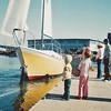 Launching 30 foot California Clipper Dream Weaver Nov 1, 1975