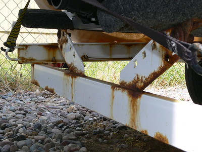 Painted trailer and salt water