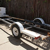 The trailer is complete, including the California title. Trailers are permanently registered in California so there is no annual sticker requirement. The tail lights work.