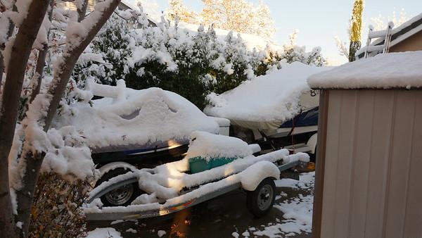 Snow in Redding