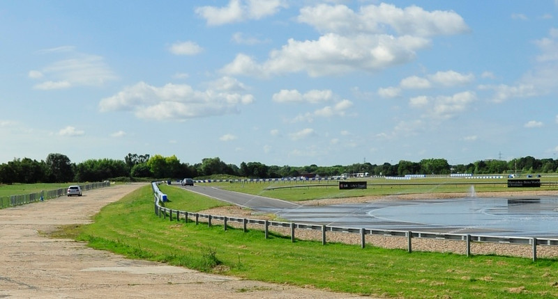 Skid pan and tracks - Mercedes-Benz World, Brooklands, Surrey.