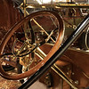 1910 Hudson 20 Touring. Throttle and spark advance levers are mounted on the steering wheel.