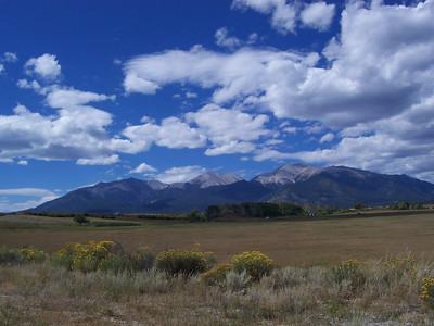 Colorado mountains on the way home.
