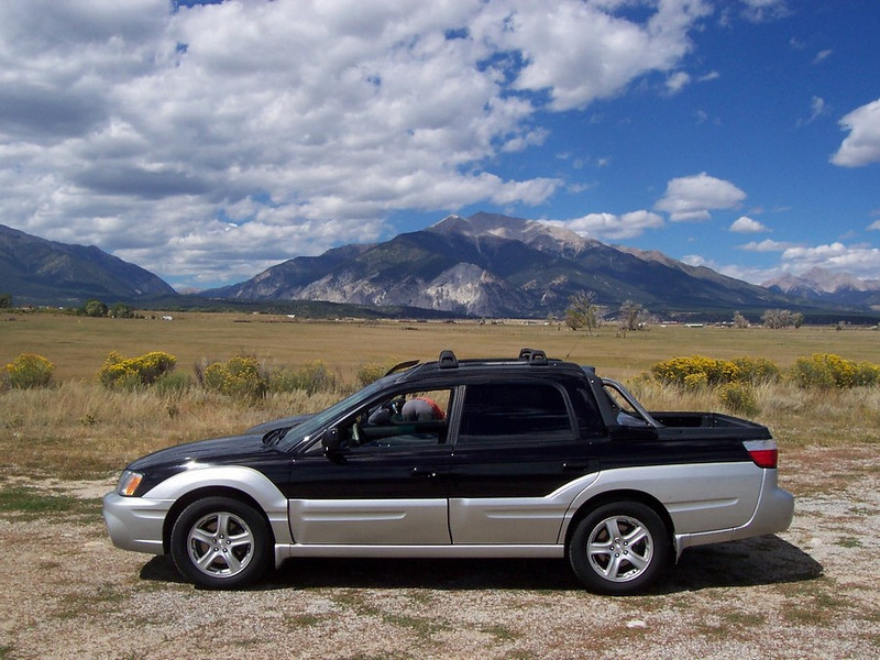 Mount Antero (I think) near Buena Vista, Co. The new Subaru Baja could climb it easily!