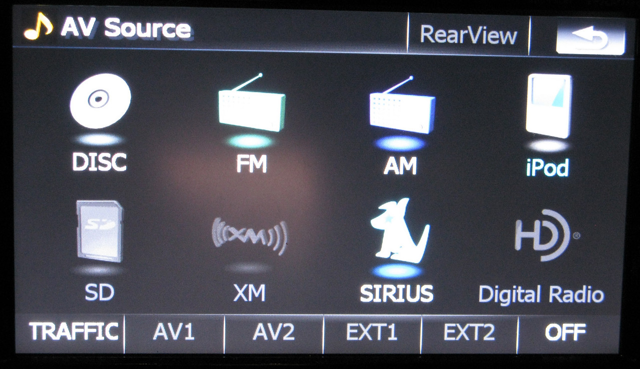 Showing all A/V sources.