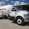 Propane providers fuel with the same fuel they sell. This Ford F-750 operates on clean and economical propane.