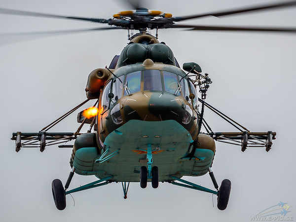 Mil Mi-8 Hip during counter terrorist demo at KADEX 2014