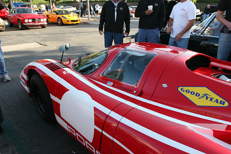 My favorite car of the show, and I have no idea what it is.  It's a 70's era Porche 2 seat race car, and I loved it.